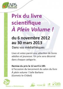 Prix du livre - Edition 2013